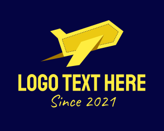 Green Plane - Yellow Paper Plane logo design
