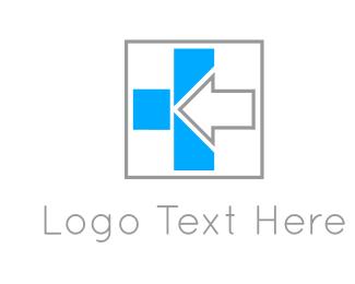 Blue And Gray - Grey Arrow logo design