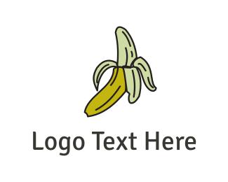 Vegan - Yellow Banana logo design