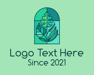 Ecofriendly - Stained Glass Garden logo design