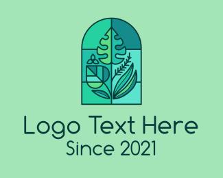 Garden - Greenhouse Garden Plants logo design