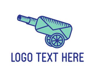 Cannon - Cannon Mail logo design