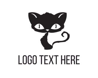 Adorable - Scary Cat logo design