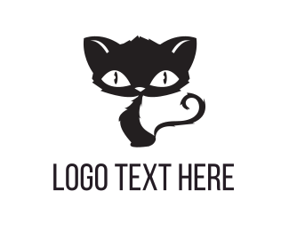 Kitty - Scary Cat logo design