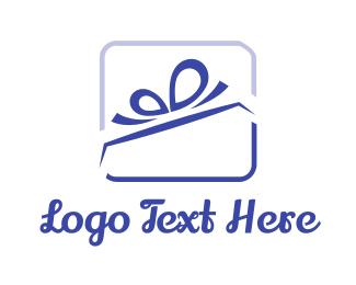 Mall - Ribbon Gift logo design