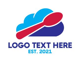 Spoon - Cloud Spoon logo design