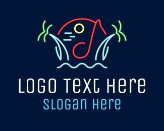 Night Club - Beach Night Club logo design