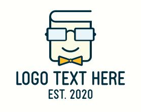 Intelligent - Book Geek Guy logo design
