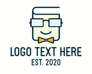 Learning - Book Geek Guy logo design