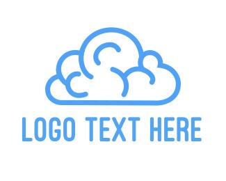 Streaming - Brain Cloud logo design