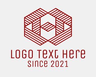 Media Agency - Linear Red Letter H logo design