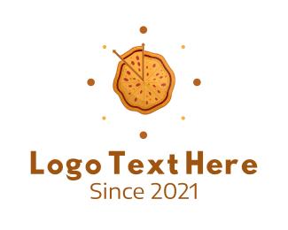 Hungry - Pizza Clock logo design