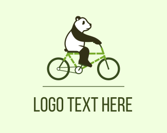 Panda - Eco Panda Bike logo design