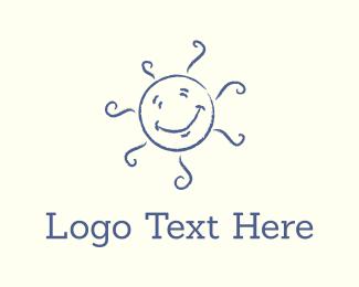 Preschool - Happy Sun logo design