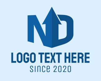 Transfer - Data Upload N & D logo design