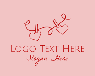 Matchmaking - Heart String Valentine logo design