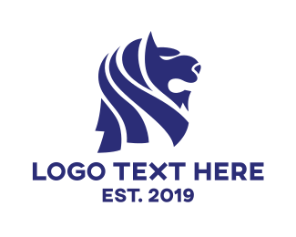 Iconic - Modern Merlion Head logo design