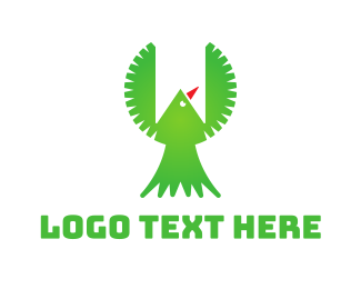 Banner - Green Bird Banner logo design