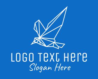 Birdwatch - Geometric Bird Monoline logo design
