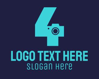 Number - Camera Number 4 logo design