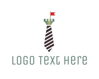 Seamstress - Medieval Tie Castle logo design