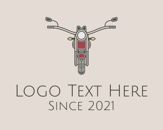 Rental - Minimalist Motorbike logo design