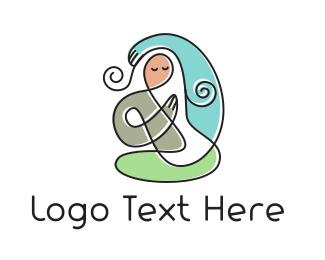 Mom -  Yoga Mom logo design
