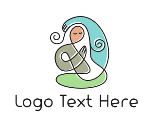 Grandma -  Yoga Mom logo design
