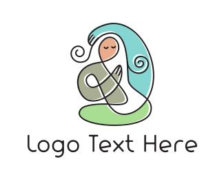 Gym -  Yoga Mom logo design