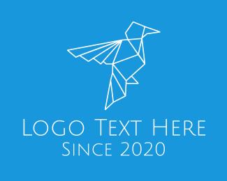 Brand - White Bird Monoline logo design
