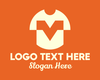 Polo Shirt - White T-Shirt Letter V logo design
