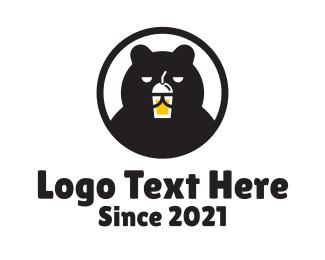 Tea - Bear Milk Tea logo design