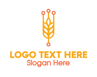 Harvesting - Modern Rice Grain logo design