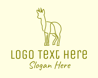 Animal Sanctuary - Deer Doe Animal Line Art logo design