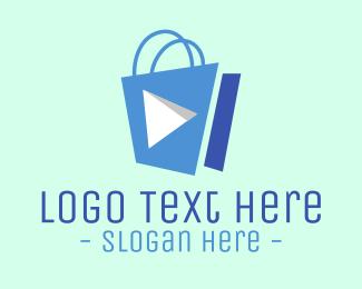 Purchase - Media Player Shopping Bag logo design