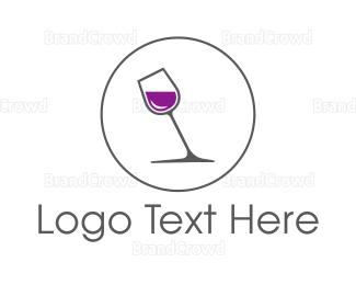Sparkling - Minimalist Wine Glass logo design