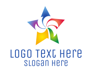 Creative Services - Colorful Palm Star logo design