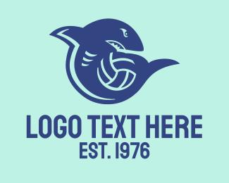 Handball - Sport Shark Ball logo design