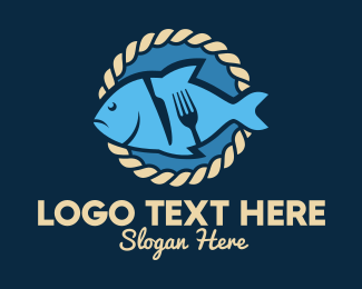 Pescatarian - Fish Seafood Restaurant logo design