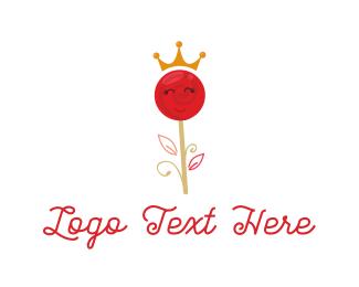 Confectionary - Queen lollipop logo design