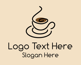 Black Coffee - Simple Coffee Cup logo design