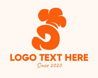 Restaurant - Orange Culinary Chef Letter D logo design
