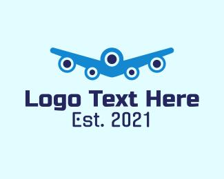 Aviation - Blue Aviation Plane logo design