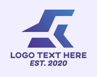 Shapes - Blue Abstract Geometric Shapes logo design