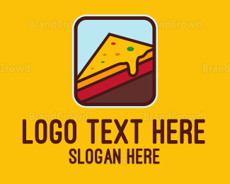 Italian Food - Cheesy Slice logo design