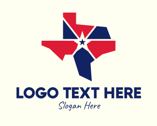 Voting - Star American Texas Map logo design