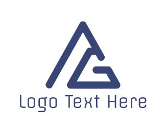 Triangular - Triangular Letter G logo design