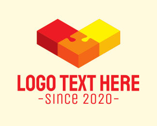 Puzzle - Isometric Arrow Puzzle logo design