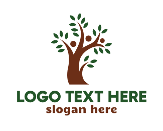Society - Brown Tree People  logo design