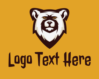 Playoffs - Polar Bear Mascot logo design